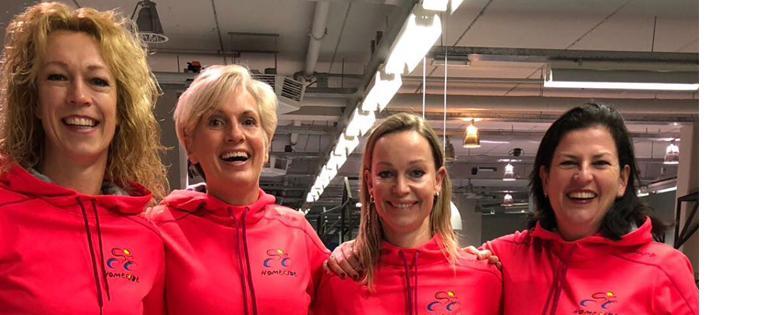 Annemiek, Saskia, Karin en Gerda